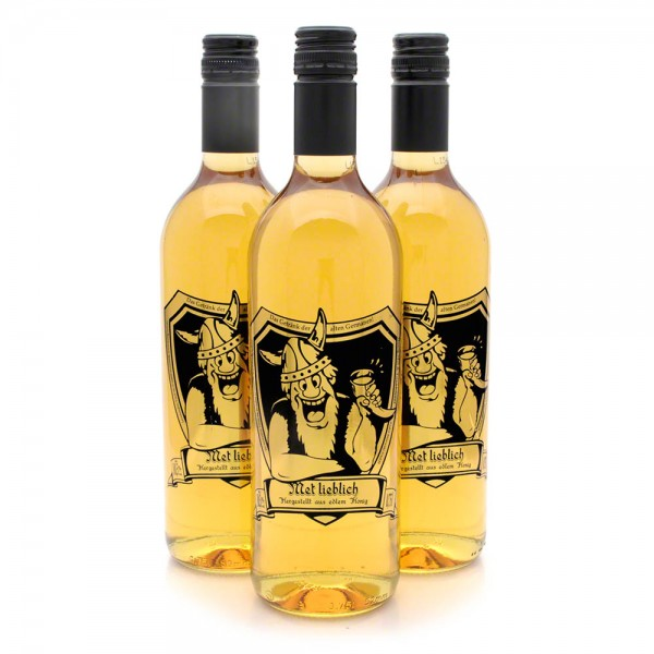 lieblicher Met - Honigwein süß - 3 Flaschen Vorteilspaket