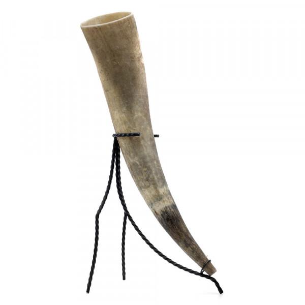 Trinkhorn, Met-Horn, Wikingerhorn aus echtem Rinderhorn, natur - 1,7 Liter, 1700 ml