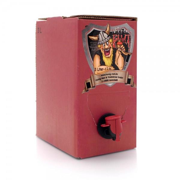 Honigwein roter Met Wikingerblut - Kirschmet - 3 Liter Bag-in-box - Ansicht mit Zapfhahn