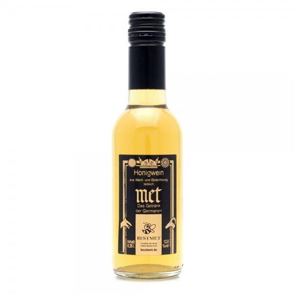 Met Wald & Blütenhonig - Honigwein lieblich - Piccolo - 12% Vol. alc - 0,25 Liter