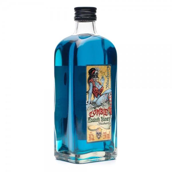 Absinth Blueberry - Zombie's Absinth Honey - Honiglikör 350 ml - Front Seite