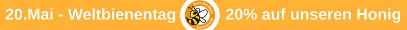 20.Mai Weltbienentag - 20% auf unseren Honig