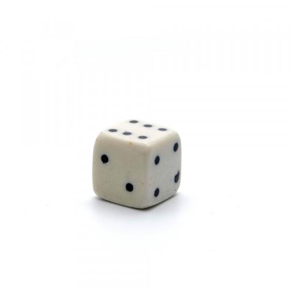 Würfel - echter Knochenwürfel - weiß, 15 mm