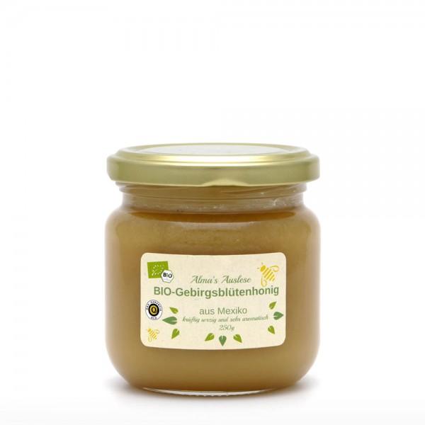 Honig - BIO Gebirgsblütenhonig - Fairtrade - 250 g Glas