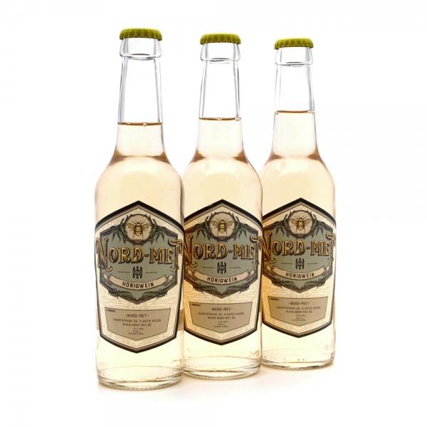 Nord-Met Honigwein Original - 3x 0,33 Liter Flaschen