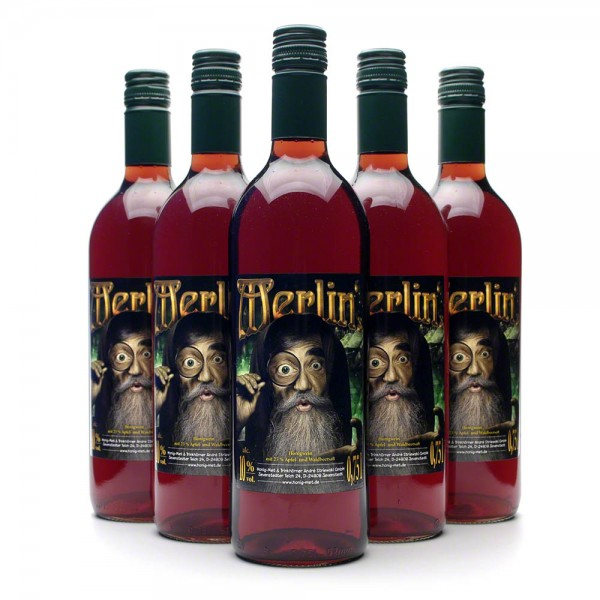 Met Merlin's - Honigwein mit Waldbeeren und Apfel - 6 Flaschen Vorteilspaket