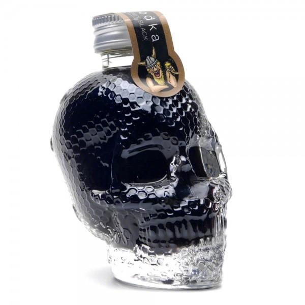 Vodka Honey Black - schwarzer Vodka mit Honig - Skull 50 ml - 40 % Vol. alc. - Front Seite