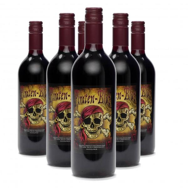 Met Piratenblut - Honigwein mit Johannisbeere - 6 Flaschen