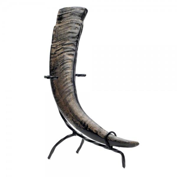 Trinkhorn, Met-Horn aus echtem Wasserbüffelhorn - 0,3 Liter, poliert - links