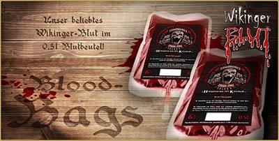Honigwein Wikinger Blut - Met mit Kirsch - im Blutbeutel
