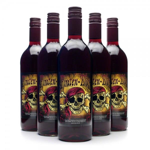 Met Piratenblut - Honigwein mit Johannisbeere - 6 Flaschen Vorteilspaket