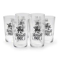 Metglas - Trinkglas - Honig-Met mit Wikinger - 100 ml - 6er Pack
