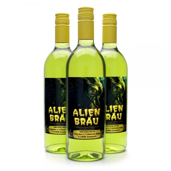 übersinnlicher Met Alienbräu - Honigmet mit Waldmeisteraroma - 3 Flaschen