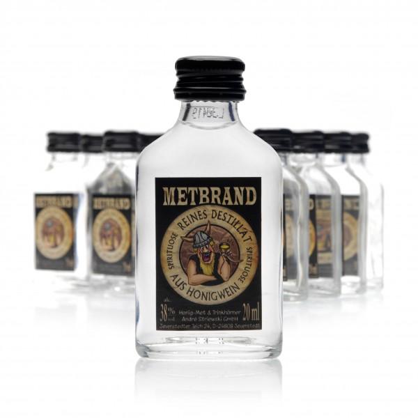 Honigschnaps - Metbrand - Destillat 38% Vol. alc - 20 x 20ml