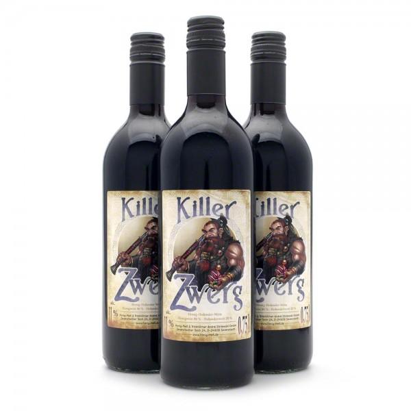 Met Killer Zwerg - Honigwein mit 20% Holunderwein - 3 Flaschen Vorteilspaket