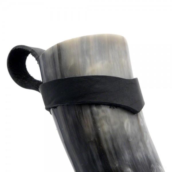 Trinkhorn Gürtelhalter - für Methorn von 500 bis 900 ml - am Horn